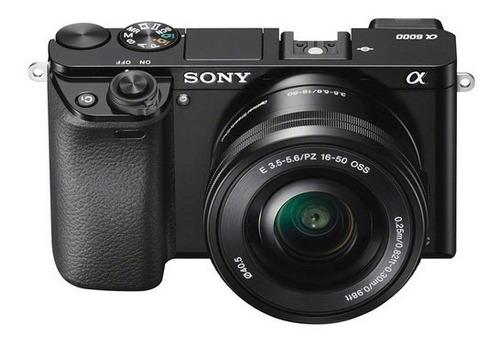 camara sony a6000 + lente e 16-50mm