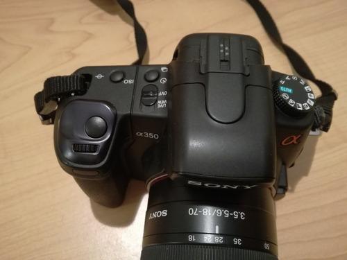 cámara sony alpha 350