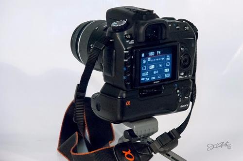 cámara sony alpha 350 usada 100% operativa. bolso de regalo