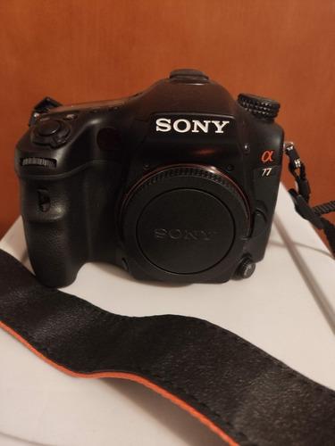 camara sony alpha 77 + todos sus accesorios 3 lentes (1.200)