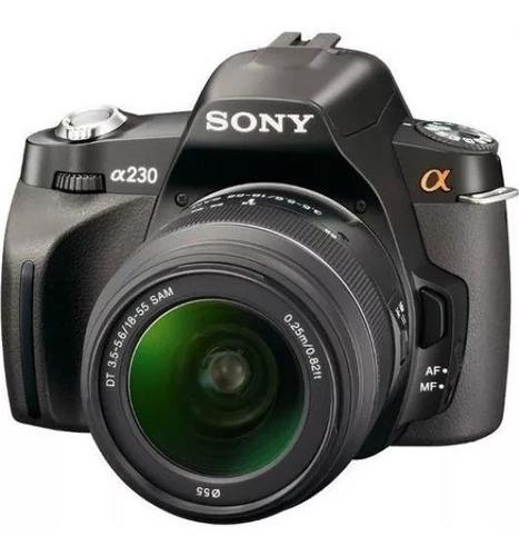 camara sony alpha a-230 con lente af 18-55