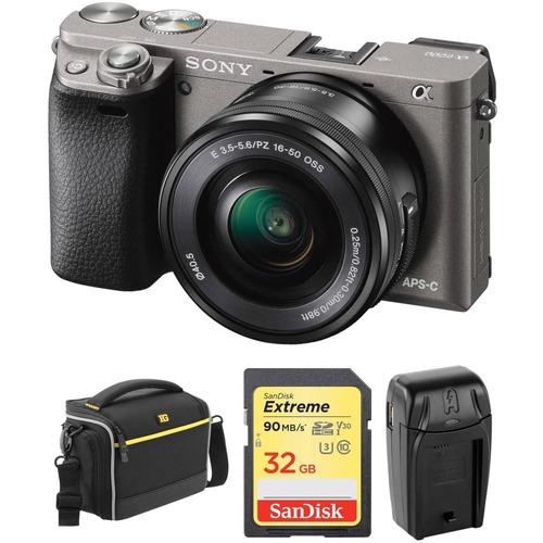cámara sony alpha a6000 -16-50 +kit(grafito)