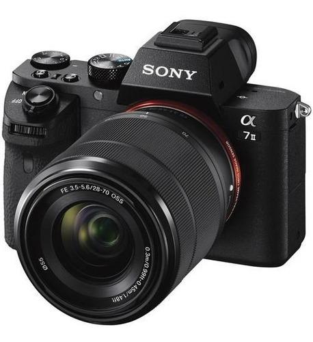 cámara sony alpha a7 ii lente oss fe 28-70 f / 3.5-5.6