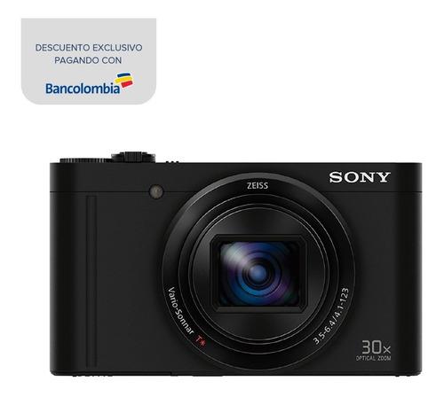 cámara sony con lente zeiss y zoom óptico de 30x - dsc-wx500