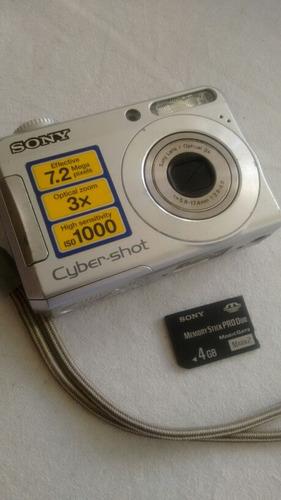 camara sony cybershot 7.2mp regalo memory 4gb