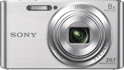 cámara sony cybershot w830 20mp 8x video hd - color plateado