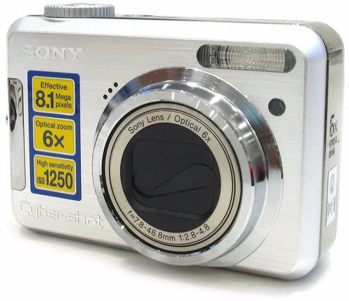 cámara sony dsc-s800, zoom óptico 6x, memory stick y funda!!