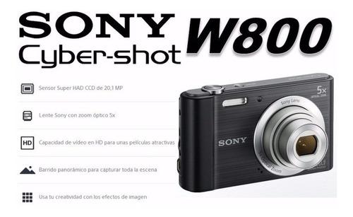 cámara sony dsc w800  20.1mp con zoom óptico 5x original neg