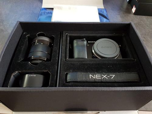 camara sony nex 7 24.3 con lentes 18-55 mm y 50mm impecable