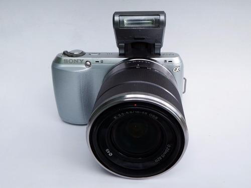 cámara sony nex c3 lente intercambiable de 16,2 megapixeles