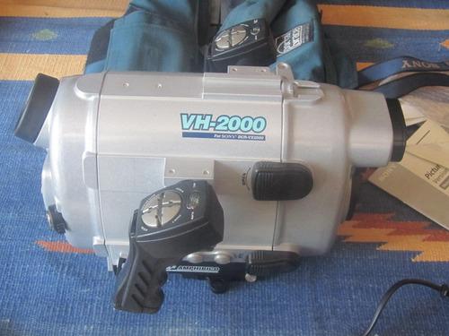 cámara sony vcrx 2000 + housing amphibico vh-2000