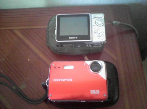 .cámara sony y olympus  de 7.2 mega pixels y 10 mega pixels