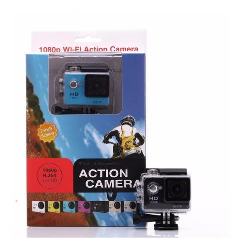 camara sport actioncam con accesorios 4k wifi tipo go pro