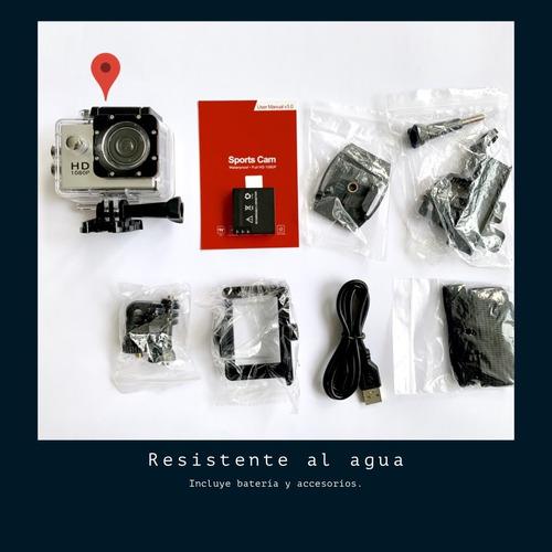 cámara sport hd 1080p, deportiva , sumergible+batería regalo