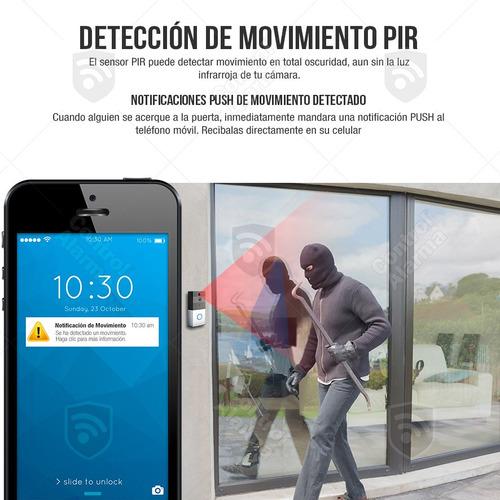 camara timbre video portero hd wifi sensor pir casa negocio