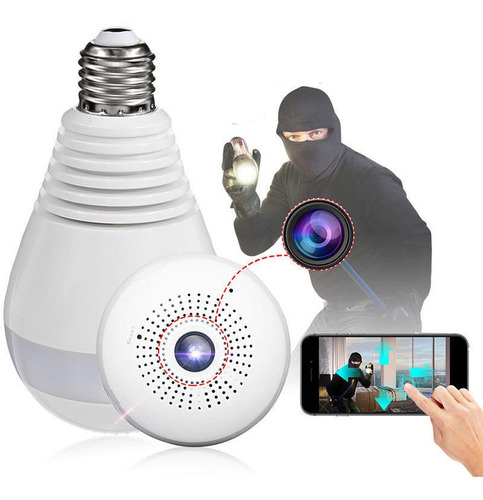 cámara tipo lampara de seguridad y asistencia