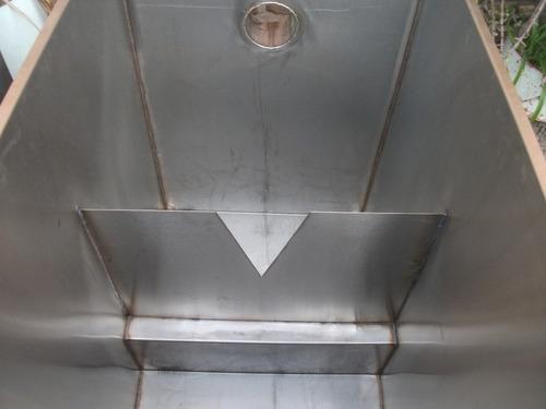 camara toma muestra acero 304 y medicion caudales
