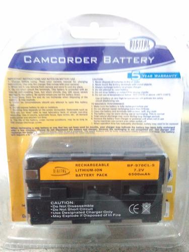 camara video sony bateria para