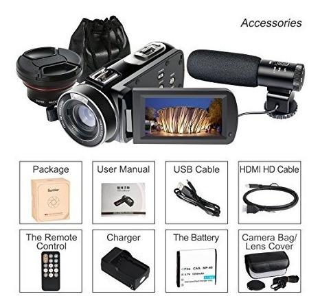 cámara videocámaras,  besteker 1080p 30 fps wifi microfono +