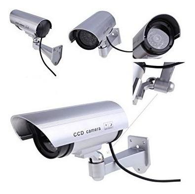camara vigilancia aspecto real a pila falsa led seguridad