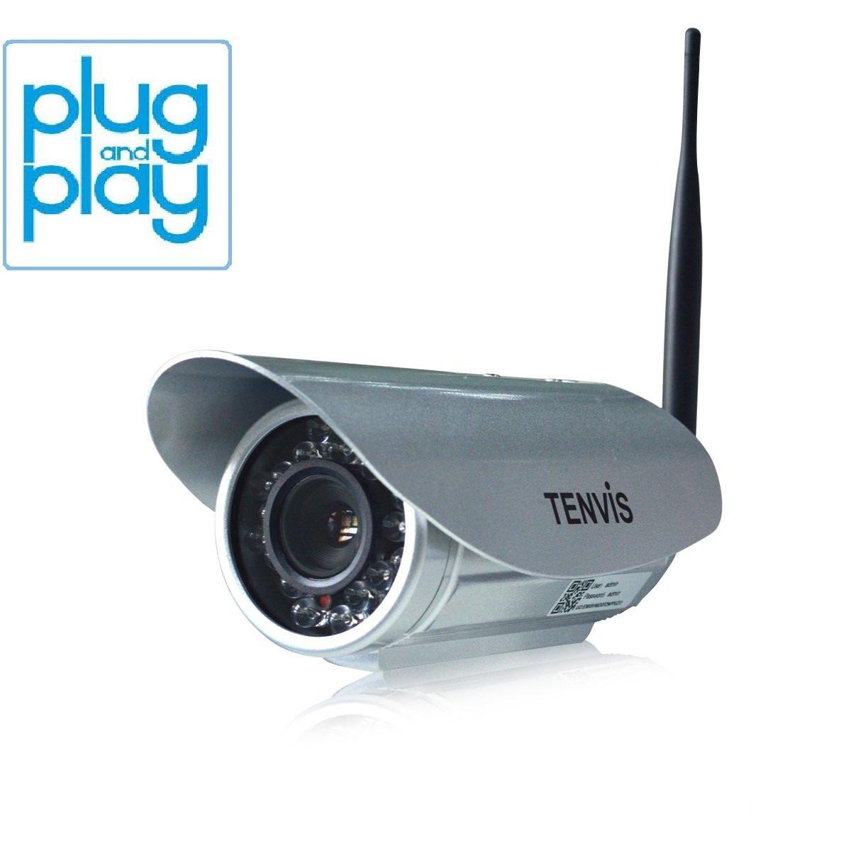 Camara vigilancia detector movimiento tenvis ip391w for Camara vigilancia exterior
