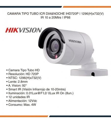 cámara vigilancia tubo plastico 720 hd  hikvision seguridad