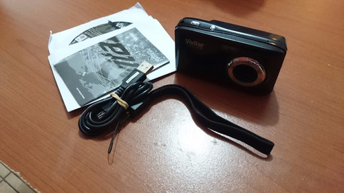 camara vivitar vivicam f128 digital lens  negro usado