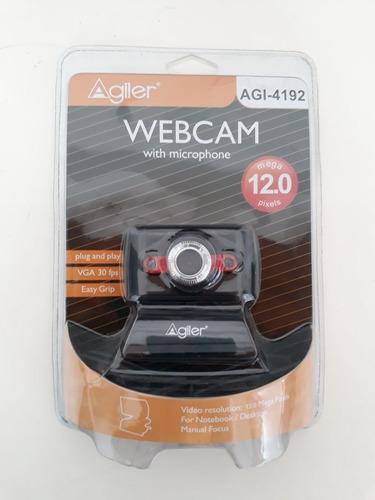 camara web agiler 4192 led +micrófono 12 megapixeles