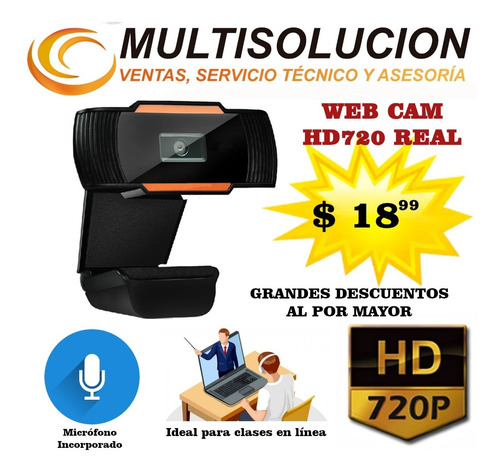 camara web cam hd720p real microfono inc. desc. al x mayor