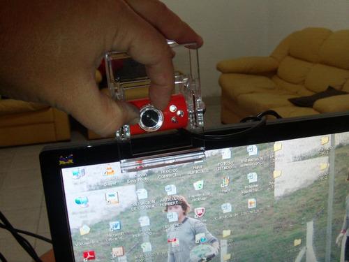 camara web clip crystal, con luz y zoom manual,