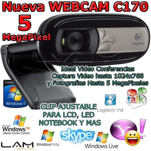 camara web logitech c170 640x480 5mp