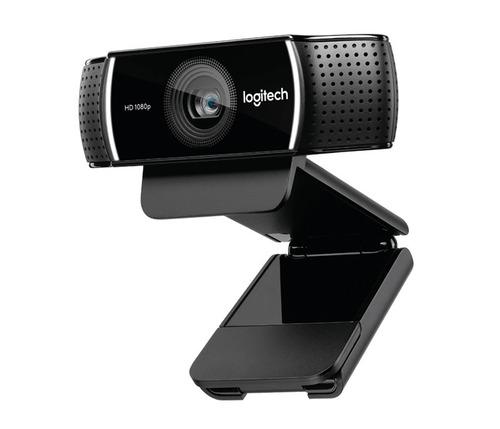 camara web logitech hd pro stream c922 webcam1080p c/tripode