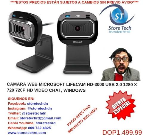 camara web microsoft lifecam hd-3000 usb 2.0 1280 x 720 720p