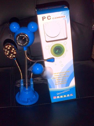 camara web multifuncional con ventilador,lampara,micrófono.
