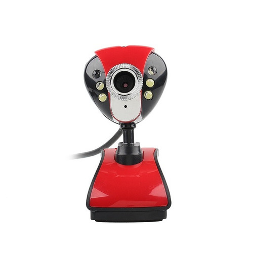 cámara web usb 5 mpx hd microfono 10 metros + luz led noche