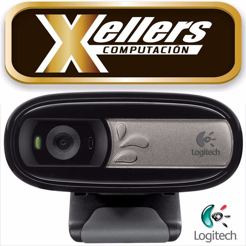 cámara web webcam logitech c170 mic - xellers