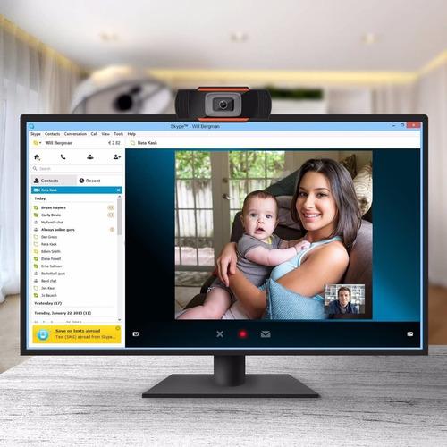camara web webcam usb pc hd 480p mic plug & play skype zoom