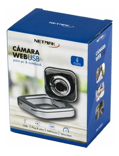camara webcam usb microfono zoom skype videochat pc cba