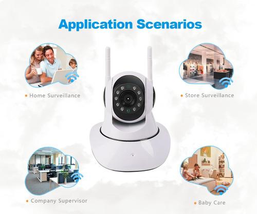 cámara wifi 2 antenas hd robótica vigila en celular audio