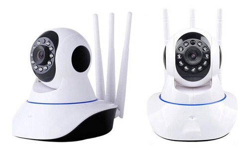 cámara wifi 3 antenas hd robótica vigila en celular audio