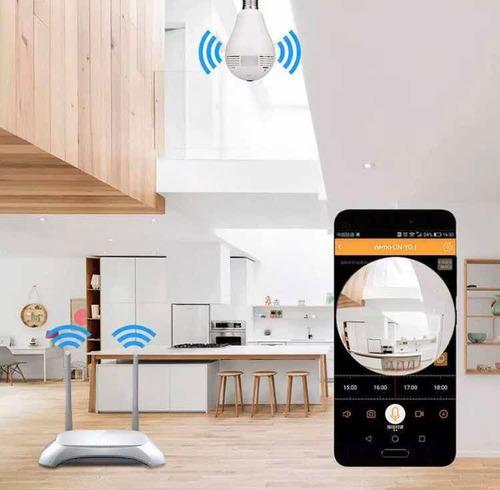 camara wifi ip de bombillo ip visión nocturna/tienda fisica
