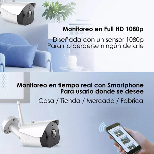 cámara wifi ip full hd 1080p sinovision ext audio mic fuente