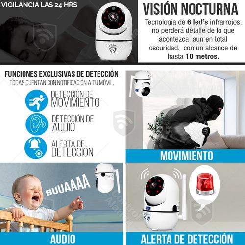 camara wifi ip hd seguridad rastreo movimiento alarma audio vision nocturna grabacion remota x celular espia nube amazon
