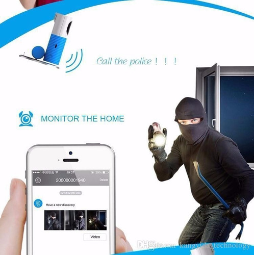 camara wifi monitor para bebe oficinas y mas, con microfono