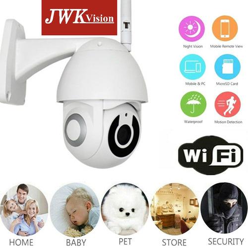 cámara wifi ptz 1080p inalambrica movimiento exteriores jwk