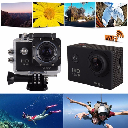 camara wifi video full hd 12mp deportes resistente al agua