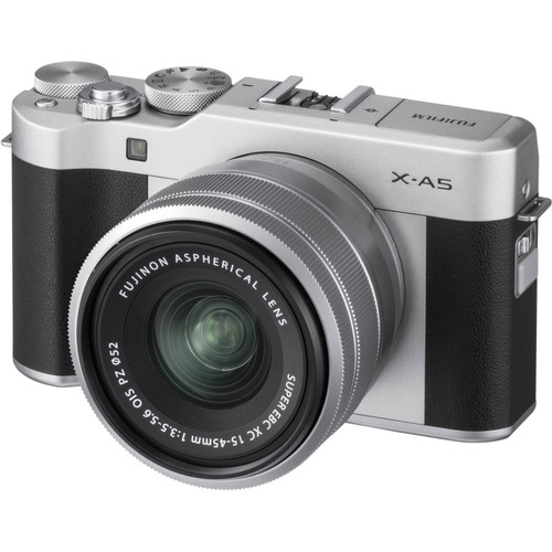 cámara x- a5 + lente xc 15-45mm f3.5-5.6 ois (silver)