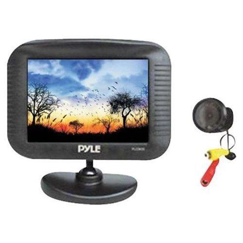 cámara y monitor retrovisor para auto coche pyle 3.5