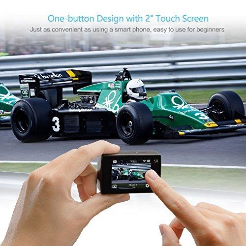 cámara yi discovery action, 4k sports cam con pantalla