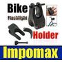 Sujetador Soporte De Linterna Bicicleta Moto Cuadron Atv $$